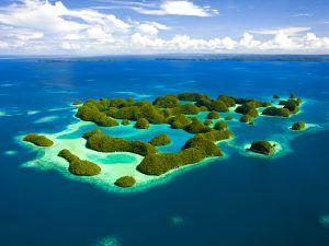 Luftaufnahme von Seventy Islands Mikronesien Palau Aerial View of Seventy Islands Micronesia Palau