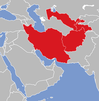 ايران، أفغانستان، طاجكستان وأوزباكستان