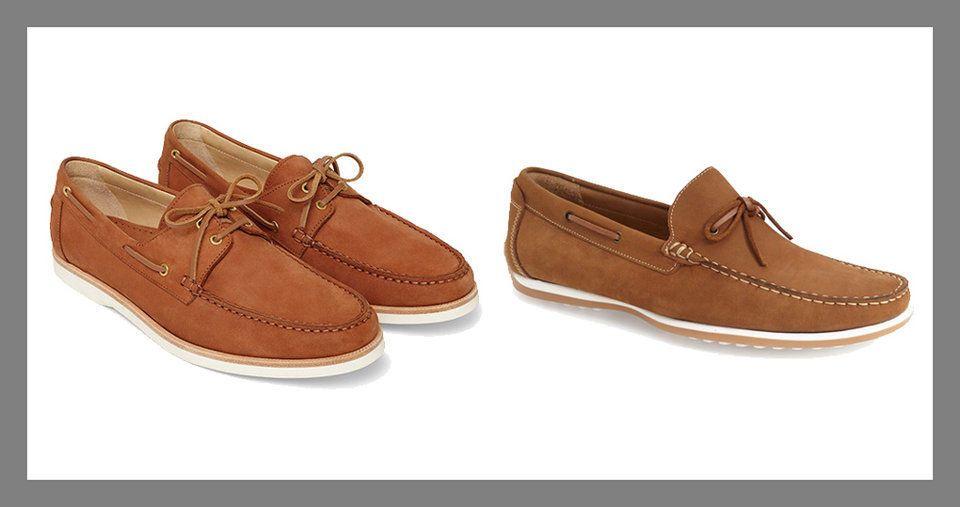 زوج من الأحذية الصيفية -A pair of boat shoes