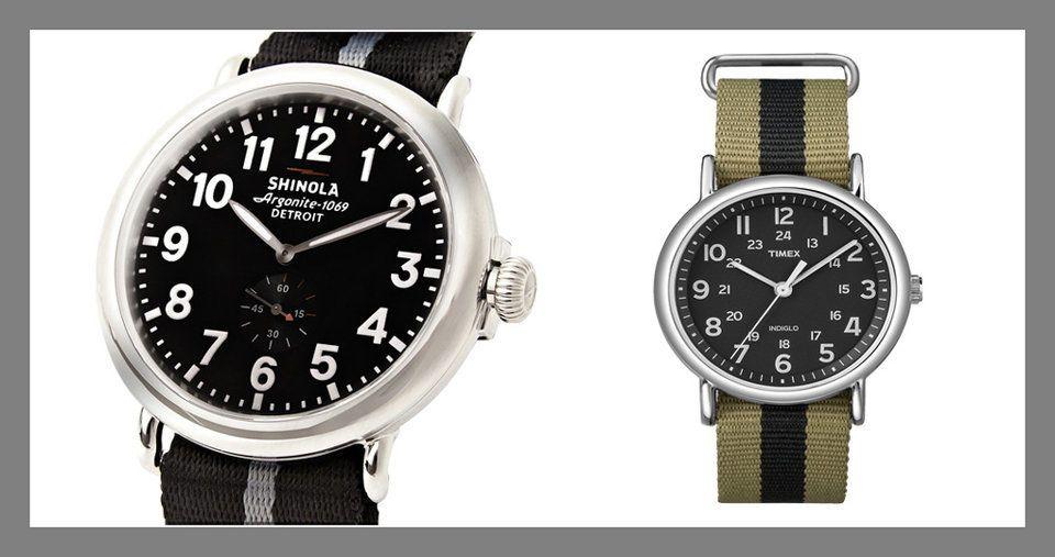 ساعة حزام الناتو -A NATO-strap watch